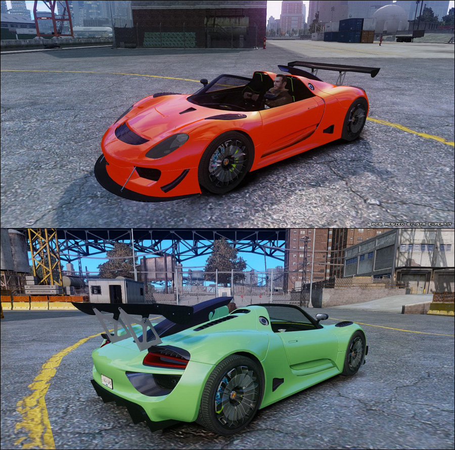 porsche 918 spyder body kit stock porsche auto gta 4 gta area download. Black Bedroom Furniture Sets. Home Design Ideas