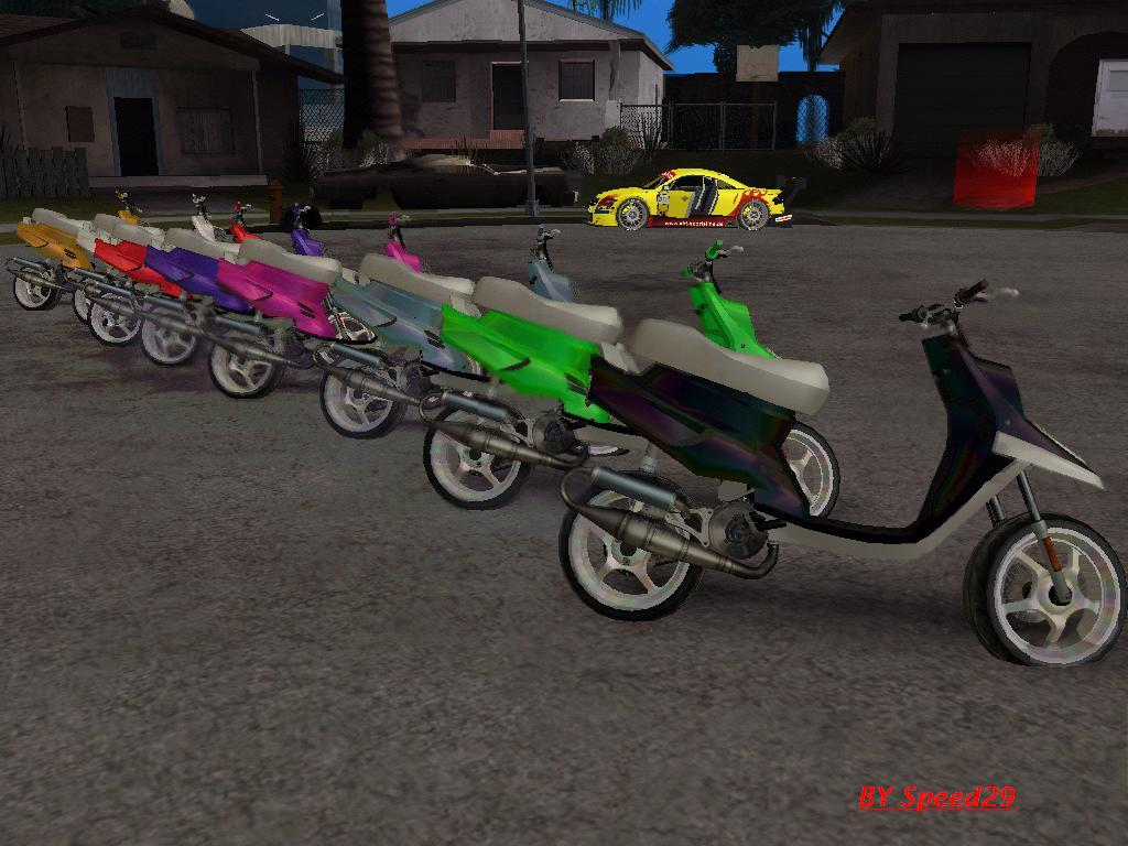 Yamaha Mbk Booster Spirit Pack 187 Gta San Andreas 187 Scooter